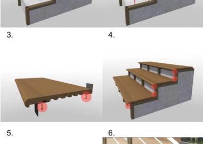 Schodnice z kompozitního dřevoplastu WPC